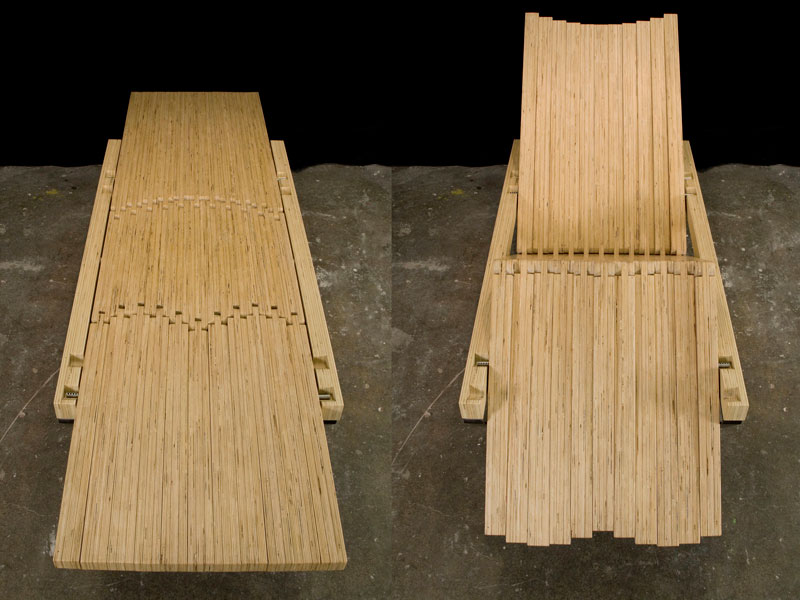 Transformable plywood lounge chair; www.justinbuilds.com