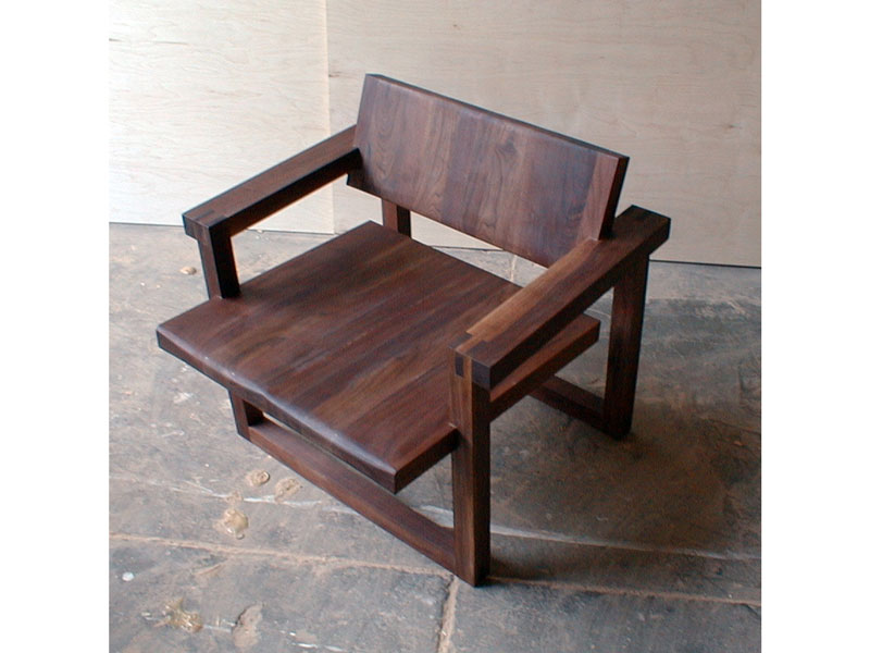 Custom walnut chair, nodesign, LLC; www.justinbuilds.com