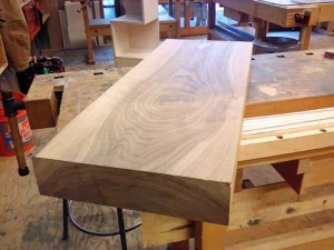"Raw material: 3"" Walnut slab"